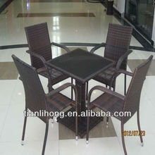 High quality Rattan Dining Table Furniture Set