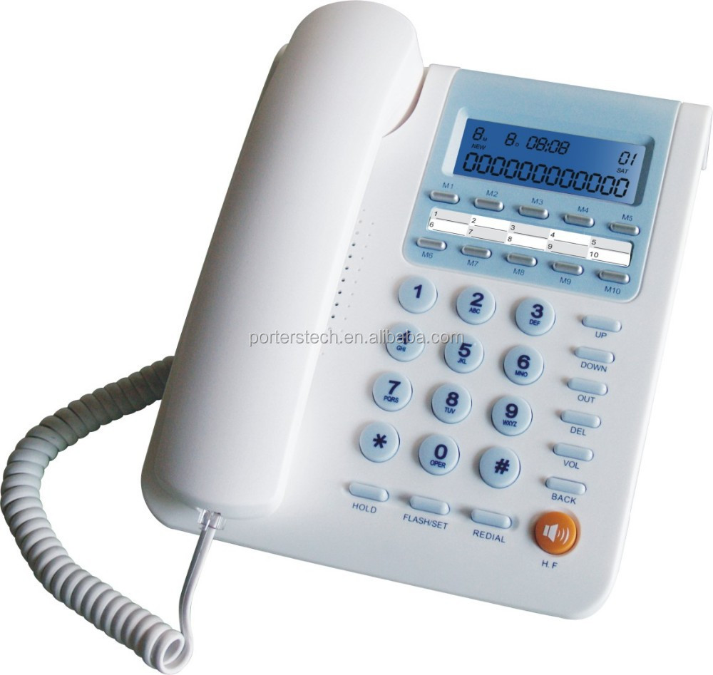 CALLER ID PHONE wall & desk mounted telephone Speaker function