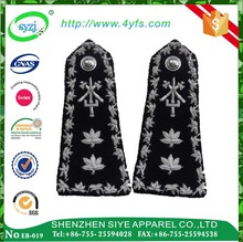 Customized oeko-tex 100 security embroidery epaulette