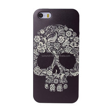 Exclusive 2017 newest design 3D embossed cool flower skull cartoon TPU cell phone case for Iphone 5G,5S,5SE,6,6+,7,7+