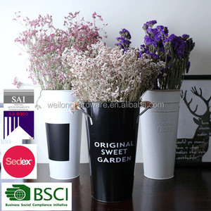 wholesale cheap and tall galvanized flower vases for flower shop