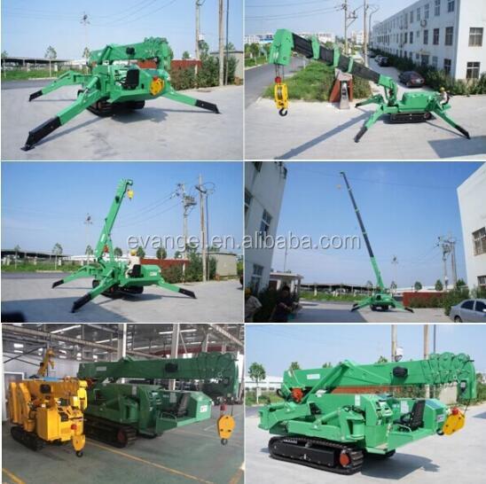 Construction Crane 3 ton mini crawler spider crane KB3.0