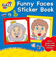 Funny Faces Sticker Book for Kids/PVC Sticker Book with Cover