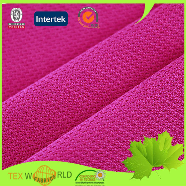 athletic knitted eyelet 100 polyester fabric