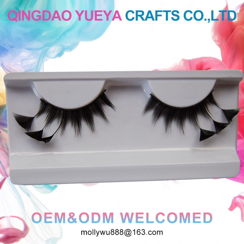 Gorgeous Feathe Custom Packaging Various Feather Eyelashes