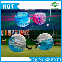 Half color Inflatable hamster ball for adult bumper ball human sized soccer bubble ball
