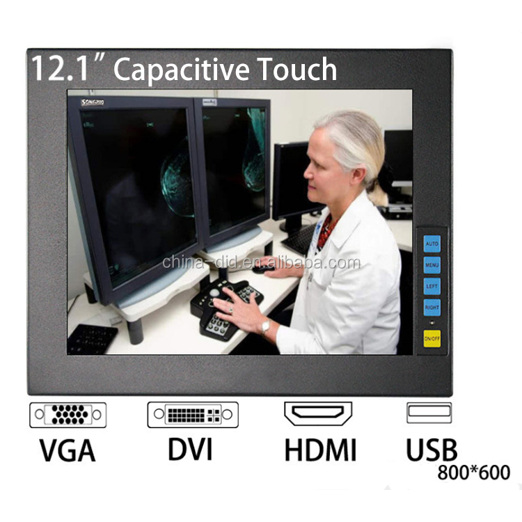 12.1Inch Android Touch Screen Monitor With VGA DVI Input