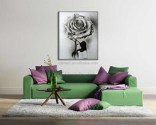 The classic black and white and black background mysterious black rose oil painting in canvas