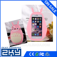 Colorful Cute Totoro Silicone Cell Phone Case For Iphone 4/4s 5/5s 6/6Plus
