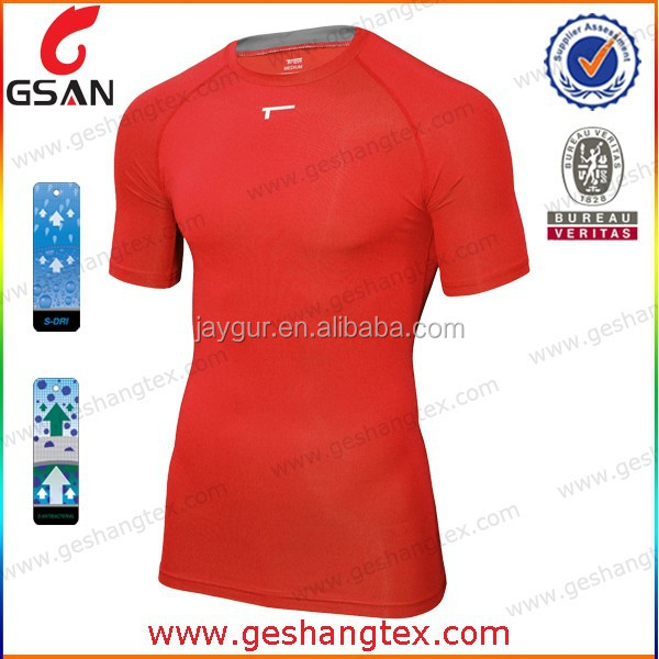 Cust-made sports functional compression wear Performance breathable quick dry compression shirt