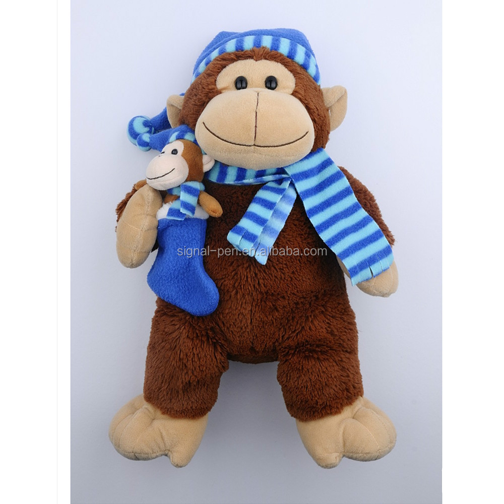 Creative Monkey Animal shape plush toy handmade pen