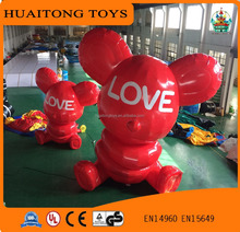 2017 new design inflatable bear inflatable model for Saint Valentine's Day