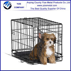 "Black Pet Dog Cage/48"" Collapsible Metal Pet Cage"