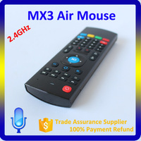 Cheap wireless MX3 remote support voice search and voice calls 2.4g air mouse for android tv box