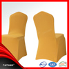 Hot sale high quality cheap wedding spandex yellow chair cover