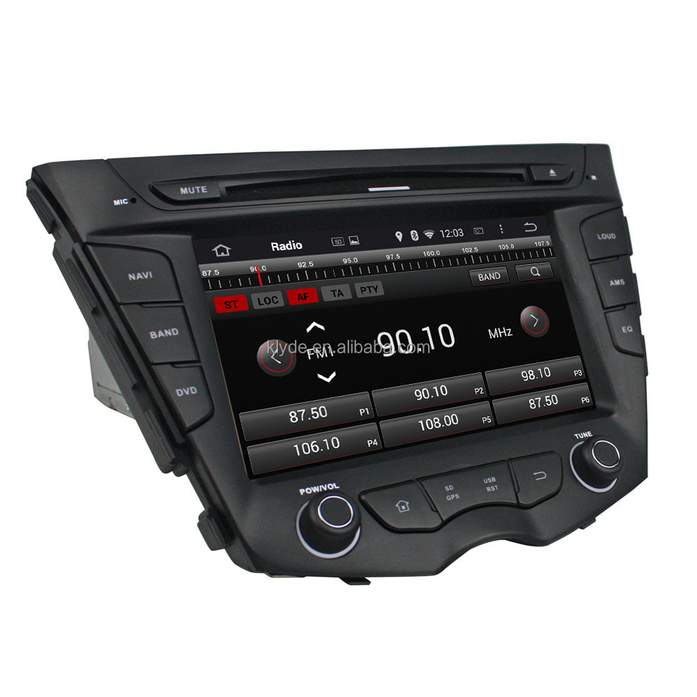 Android OEM car DVD player Multimedia with Audio, Radio, BT, IPOD, GPS for Hyundai Veloster