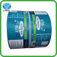 Health care kefir probiotic custom waterproof sticker labels printing hot sale