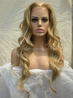 Hot Sale Fashion Blonde Curly Synthetic Hair Lace Front Wigs