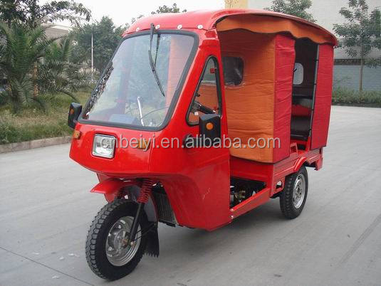 Hot sale in India 150cc passenger trike with carbin auto rickshaw passenger tricycle