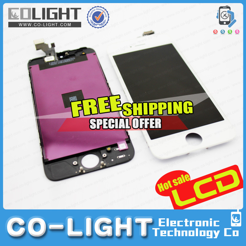 OEM for iPhone 5 lcd screen, lcd screen for apple iPhone 5 phone parts with low price