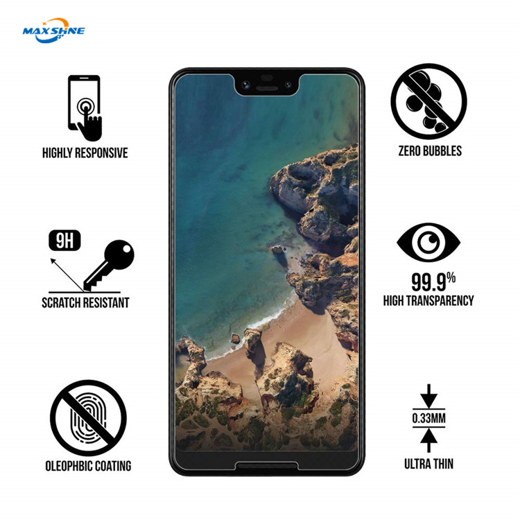 Maxshine 2.5D Tempered Glass Screen Protector 9H For Pixel 3 Glass Screen