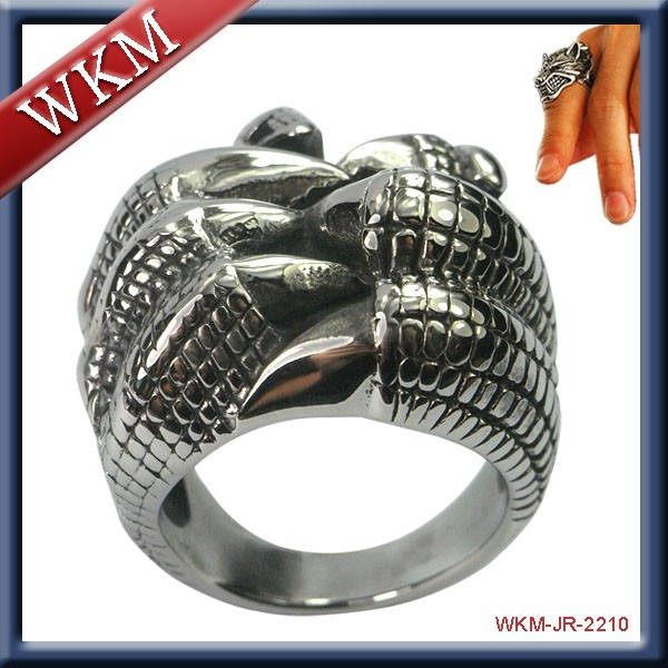 Year 2016 New Design Cheap Stainless Steel Skull Ring