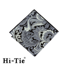 Hi-Tie SP 0105 Wholesale Small Black Handkerchief Mens Cotton Soft