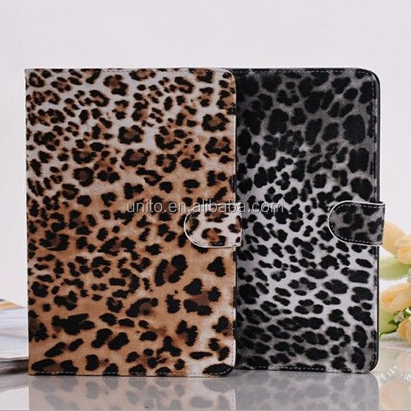 Leopard pattern book leather case for iPad mini 3 2 1 generation