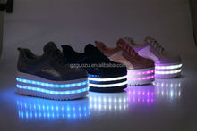 adults led light high heel flash casual shoes