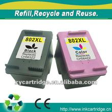 Refillable Ink cartridge 802XL for hp printers