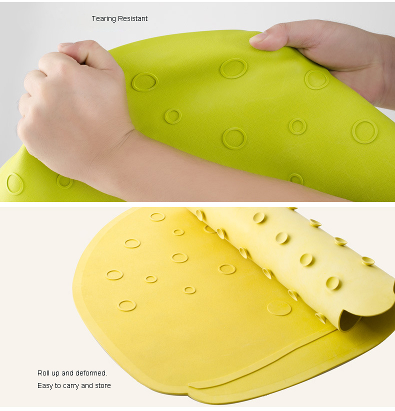Kids waterproof non slip rubber bath mat with suction cup