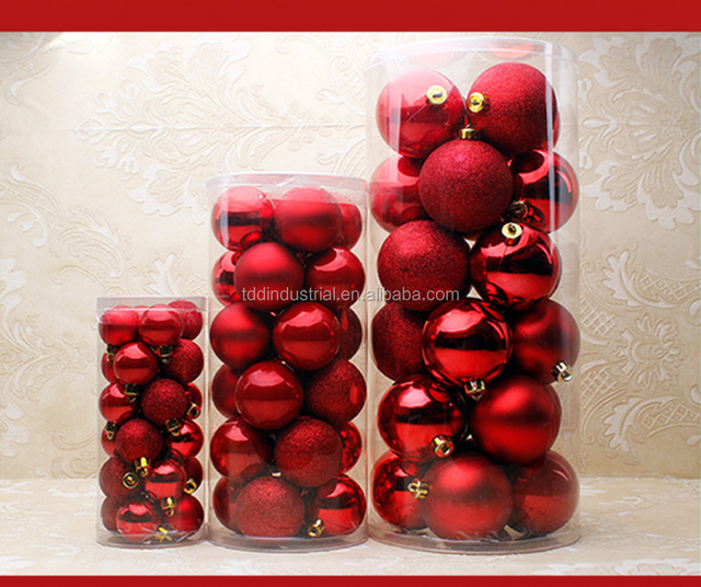 Snowflake Shatterproof 60mm Christmas Ball Ornaments Decorations - Set of 24 with Storage Box