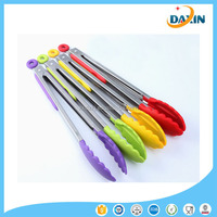Food Cooking Serving Salad /BBQ Stainless Steel Silicone food Tongs Handling Anti Skid Kitchen Tools