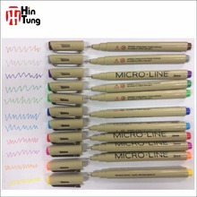 16pcs Colored Micro Needle Line Pen for cartoon drawing
