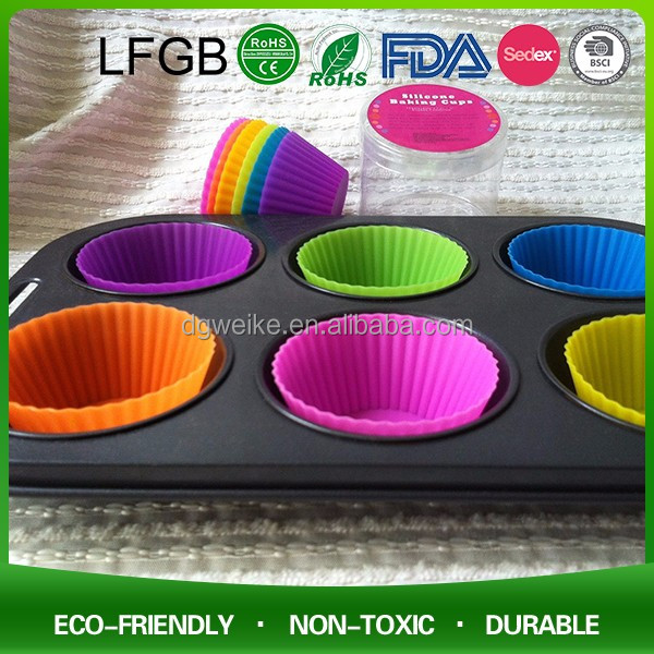 Cupcake Baking Pan Cake Moulds Muffin Tins Silicone Baking Cups silicone caking cup