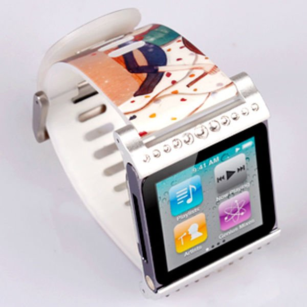 Violin pattern watch bands wholesale case for ipod nano6