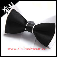 100% Microfiber Black Suit Bow Tie