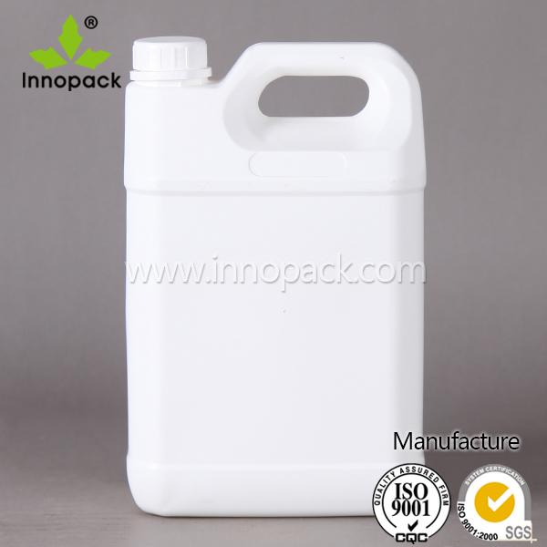 5L white HDPE plastic petrol drum and machine oil container