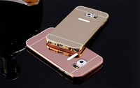 hot selling cell phone case electroplating aluminum bumper mirror back cover for samsung galaxy S7