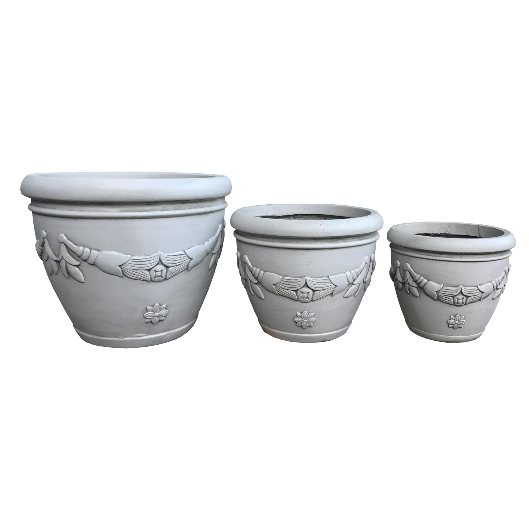European steal oval decorative planter