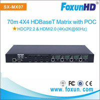 NEW NEW NEW Factory OEM 70m HDMI/HDBaseT 4X4 Matrix Switch Support 4K2K@60Hz(4:2:0),with 4 Receivers
