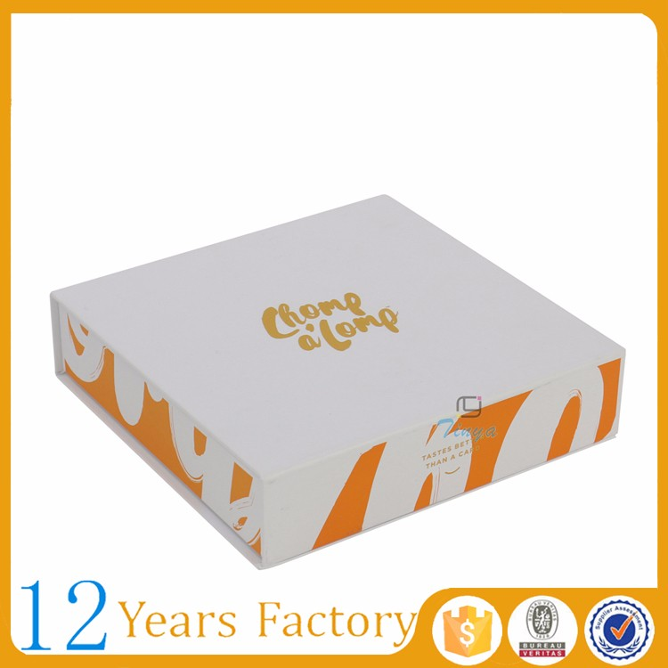 stamp foil matte food gift boxes packages for cookies