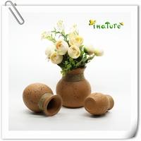 red clay indoor home flower vase
