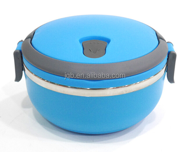 Round shape stainless steel insulated Lunch Box Tiffin Box Food Container