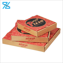 Different size cheap brown kraft Corrugated food packing pizza boxes for sale