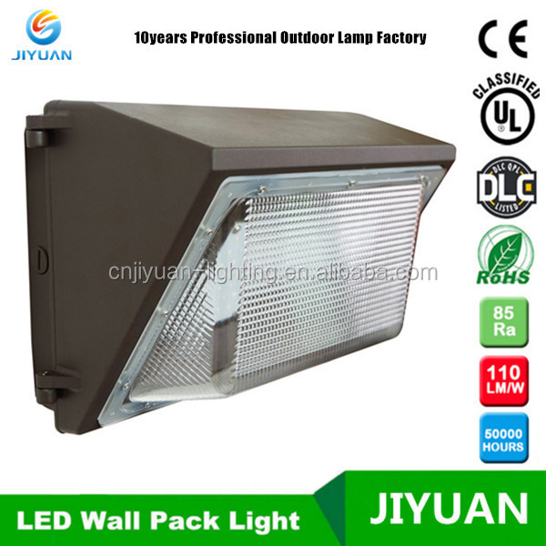 5000k UL DLC 120watt LED wall pack exterior lighting , with photocell sensor
