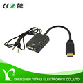 High Quality HDMI Male to VGA Female With Audio HD Video Cable Converter Adapter 1080P for PC