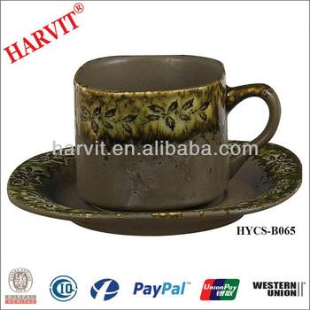 17 9 Antidumping Ceramic Chinese Tea Set Drinkware Cuccino Cup Saucer Plate Trio