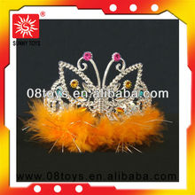 EN71 standard cheap plastic kids tiaras wholesale for making up