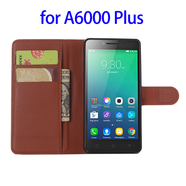 Consumer Electronics Wallet Mobile Phone Case for Lenovo a6000 plus case cover, Flip Leather Case for a6000 plus Cover